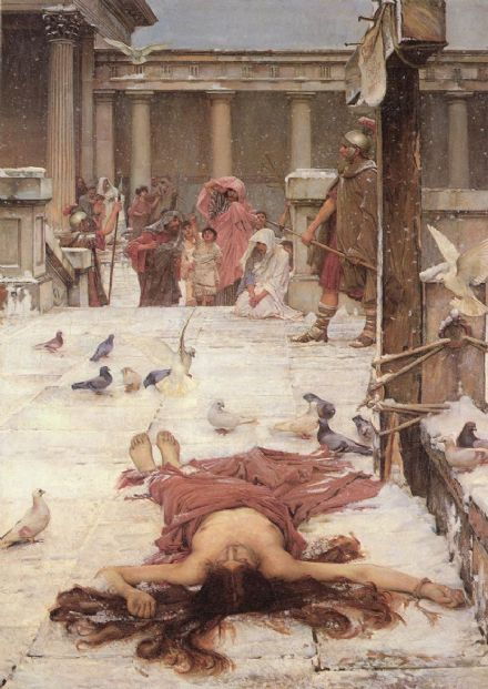 Waterhouse, John William: Saint Eulalia. Fine Art Print/Poster. Sizes: A4/A3/A2/A1 (00853)
